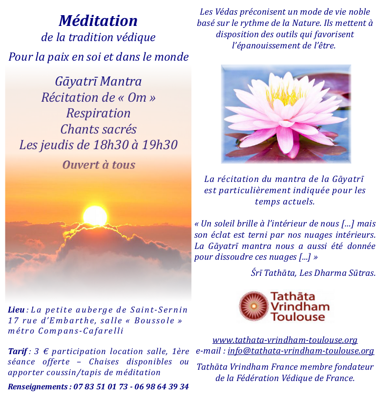 Flyer méditation Gayatri
